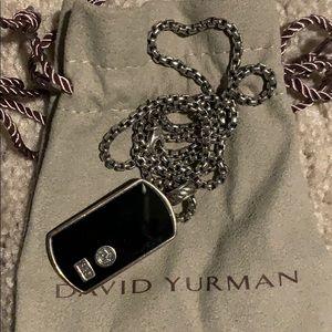 David Yurman  dog tag necklace